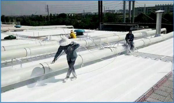 铁皮厂房喷涂白色隔热涂料降温