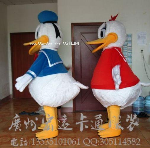 卡通道具服装卡通人偶动物模型唐老鸭
