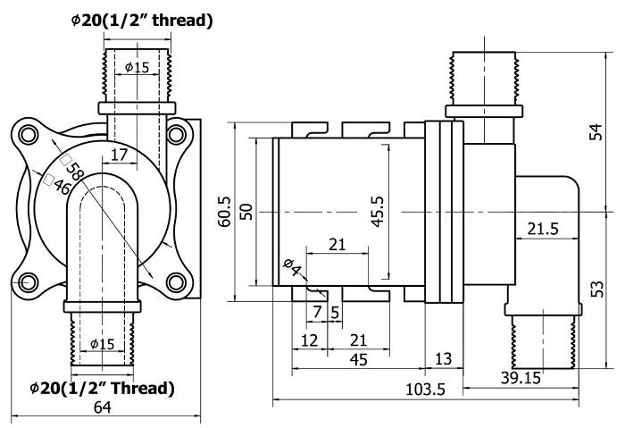 三相直流无刷调速磁力驱动泵流量可调节dc50c系列