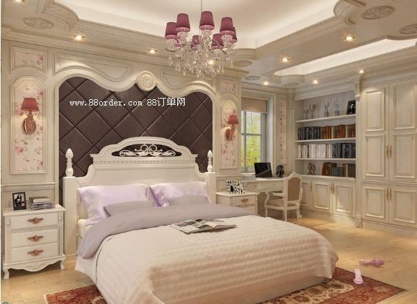 卧室欧式护墙板装修效果图