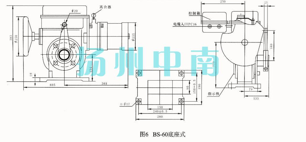 驱动风门挡板电动执行器bs-60/k30h